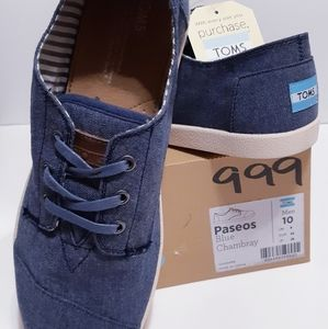 TOMS Paseos Blue Chambray